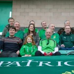 St Pats Members With the Flag