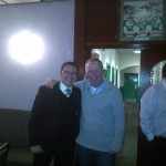 Chairman Doug with Pat Fenlon (24 November 2012) Chairman Doug with Hibs Manager Pat Fenlon (24 November 2012)
