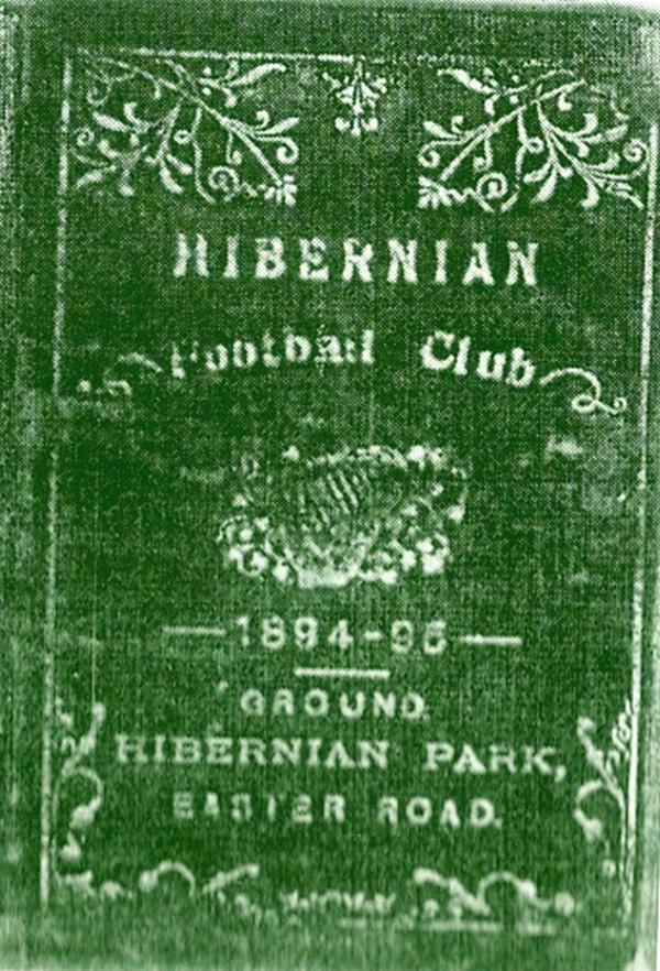 Season Ticket for Hibernian F.C. (1894 -5)