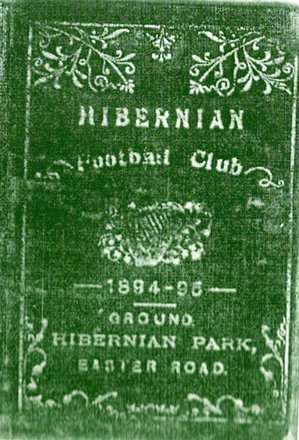 Season Ticket for Hibernian F.C. (1894 -5)